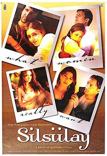 Silsiilay (2005) DM - Shahrukh Khan, Tabu, Rahul Bose, Bhoomika Chawla, Riya Sen, Jimmy Shergill, Ashmit Patel, Celina Jaitley, Kay Kay Menon, Divya Dutta, Rakesh Bedi, Anita Hassandani