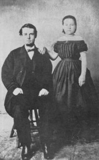 After divorcing Behan, Victoria Zaff married Charles A. Randall on September 15, 1881, in Prescott, Arizona Territory. This is probably their wedding photo.