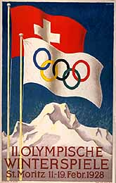1928 Winter Olympics 2nd edition of Winter Olympics, held in Sankt Moritz (Switzerland) in 1928