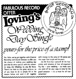 "Loving ad for ""Our Wedding"" Crass in Loving magazine.png"