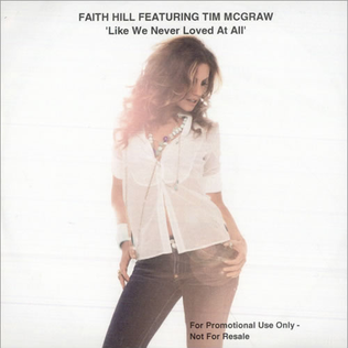Like We Never Loved at All 2005 single by Faith Hill featuring Tim McGraw
