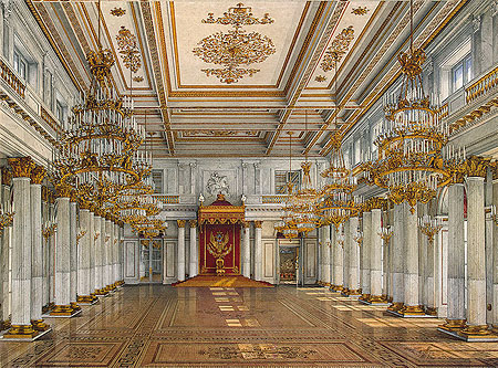 St Georges Hall And Apollo Room Of The Winter Palace