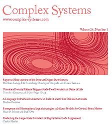 <i>Complex Systems</i> (journal) Academic journal