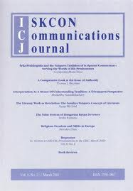 <i>ISKCON Communications Journal</i>