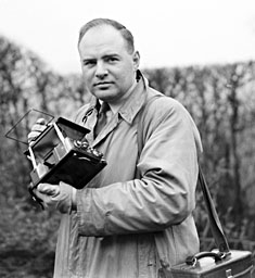 Portrait of photographer John Topham, 1936