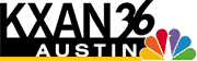 "KXAN's logo used from 2002 until 2007. The ""falling 36"" seen here was used since 1987, when it adopted current KXAN calls."