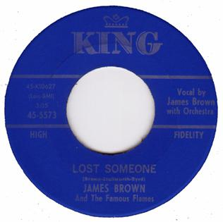 Lost Someone song performed by James Brown
