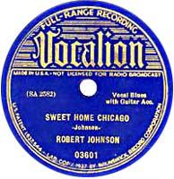Titelbild des Gesangs Sweet Home Chicago von Robert Johnson