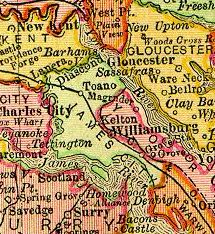 James City County, Virginia as shown on 1895 map
