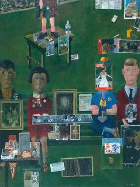 Peter Blake, On the Balcony, 1955-1957, collage, mixed-media, Tate Gallery Blake, On the Balcony.jpg