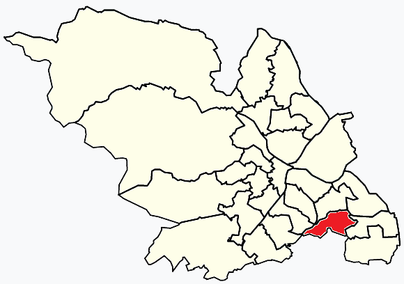 Birley Sheffield, map
