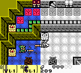 In a castle, a boy in a green suit unsheats his sword against a knight in armor.