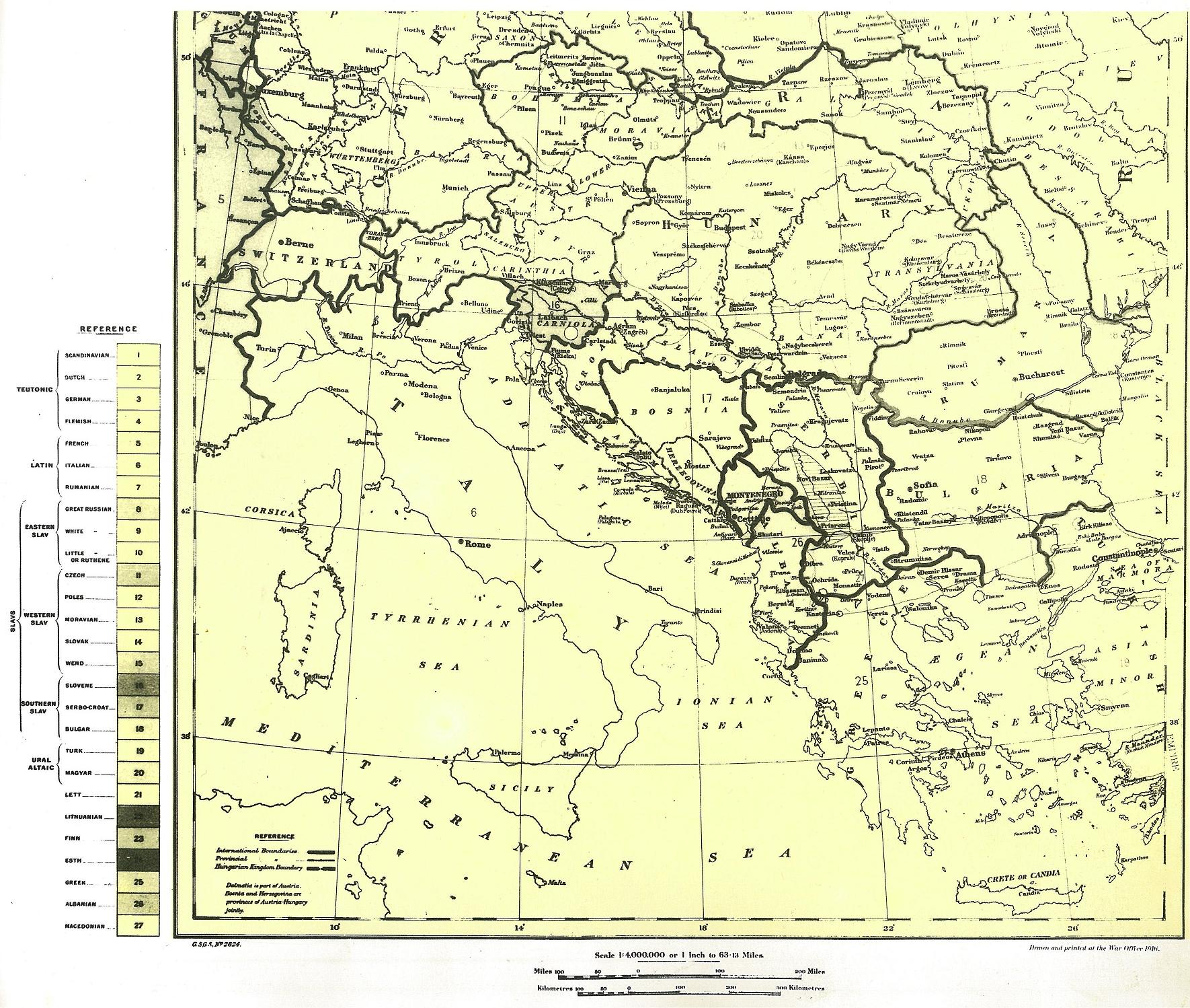 FileEthnographical Map of Central and South Eastern Europe The – South of Europe Map
