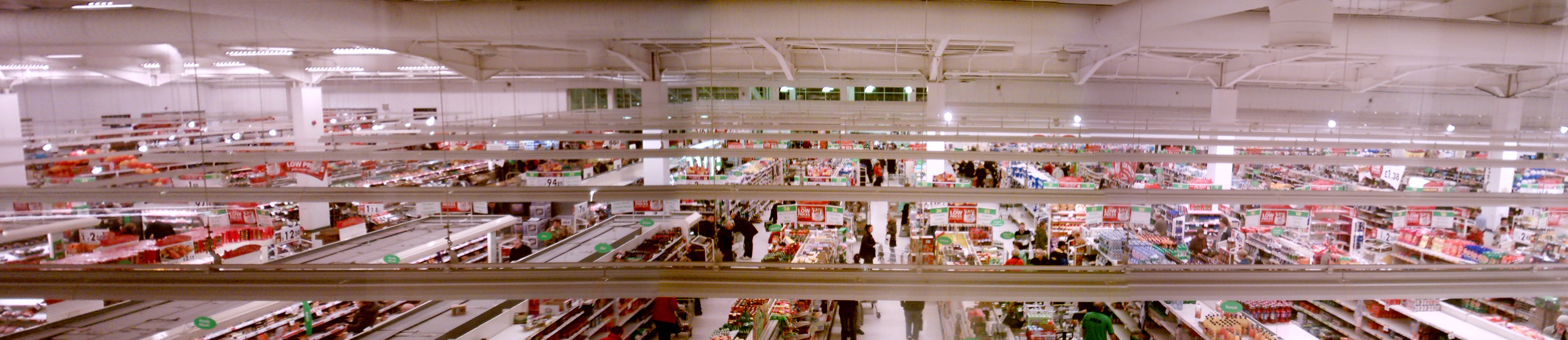 The Interior Of Asda Store In Liscard Wirral Taken From Stores Staff And Visitor Reception Area