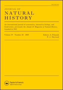 <i>Journal of Natural History</i> natural history journal