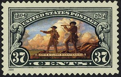 Lewis & Clark stamp 2004