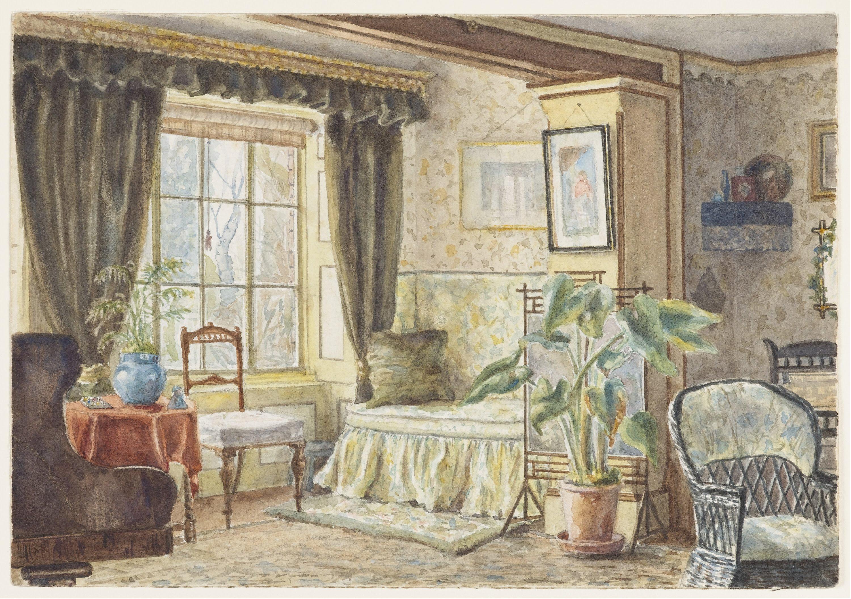 File m f pearce the drawing room informal sitting room brabourne vicarage google art - Sitting room ...