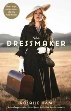 The film tie-in cover for the novel The Dressmaker