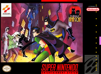 Official poster of The Adventure of Batman and Robin game launched in 1994.