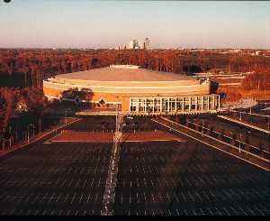 Charlotte Coliseum architectural structure