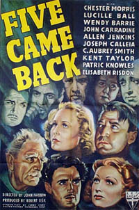 <i>Five Came Back</i> 1939 film by John Farrow