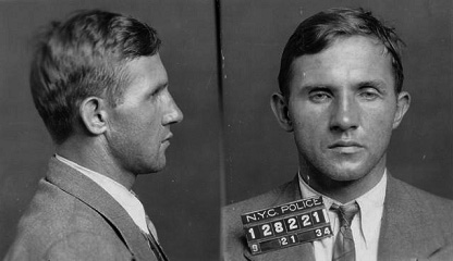 Mugshot taken of Bruno Hauptmann, taken follow...