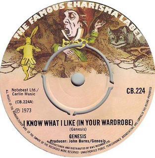 Coprire immagine della canzone I Know What I Like (In Your Wardrobe) da Genesis