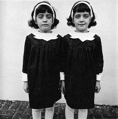 Diane Arbus photograph, Identical Twins, Rosel...
