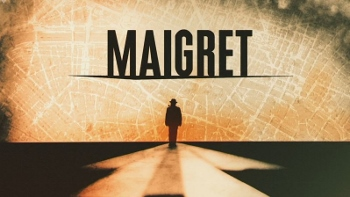 series title with a silhouette of Maigret against a map of Paris