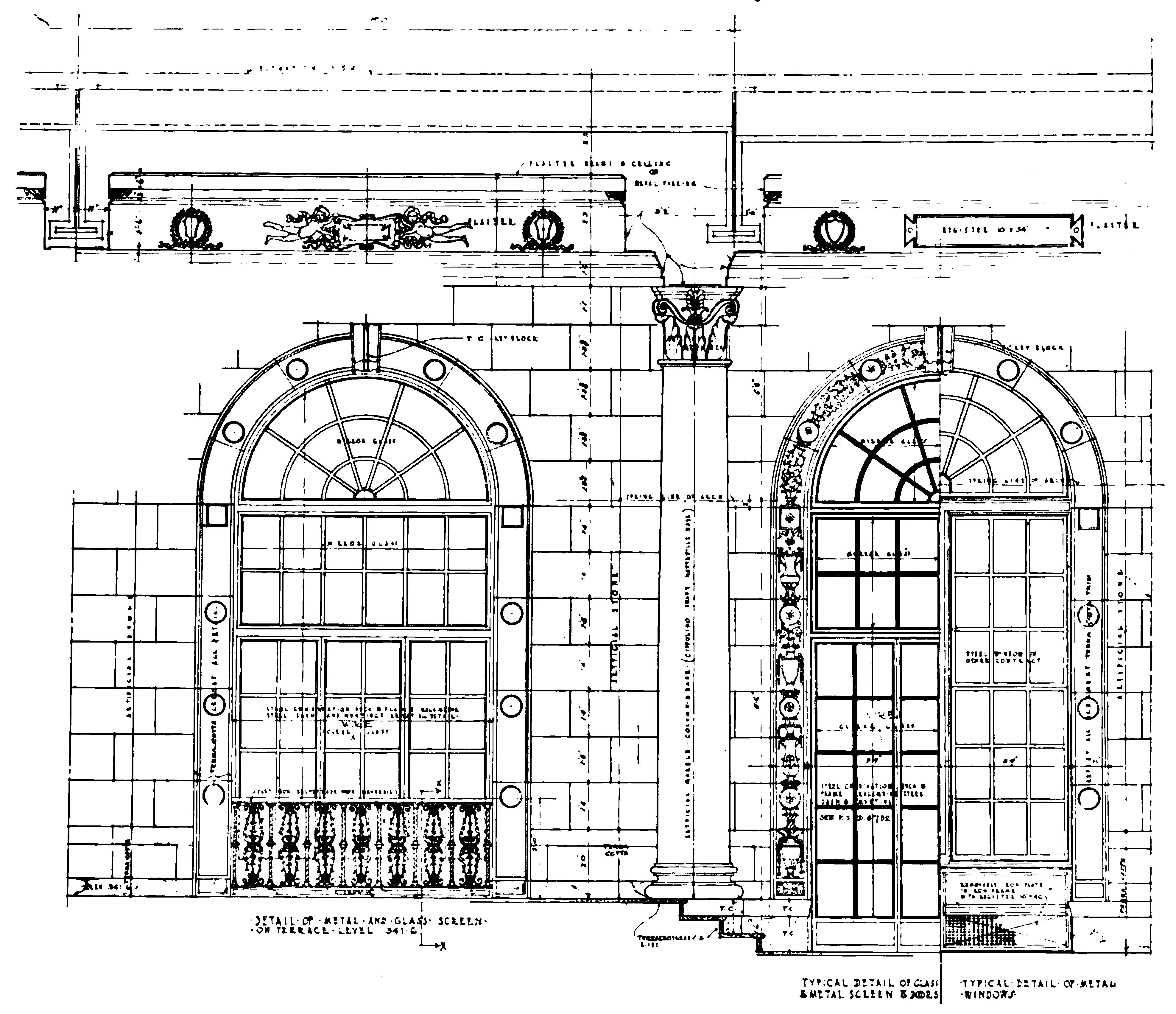 File architectural diagram of the restaurant hotel