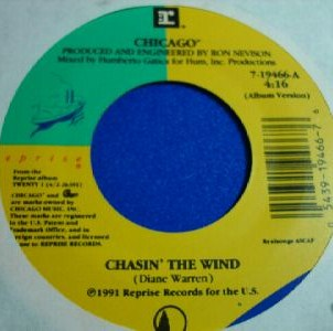 Chasin the Wind 1991 single by Chicago