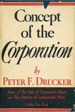 <i>Concept of the Corporation</i> book by Peter Drucker