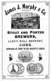 Murphys Stout, 1919 advert for the famous Cork brewery