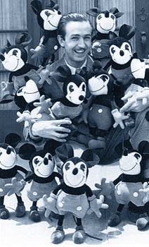 Walt Disney with a collection of Charlotte Cla...