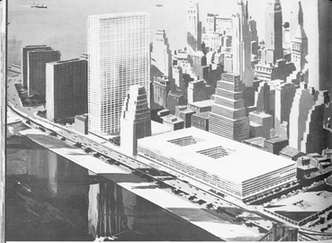 Architect's model for the proposed World Trade Center on the East River East-side-wtc.png