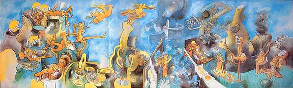 Roberto Matta. Elle Loge La Folie, oil on canvas, 1970. - Surrealism