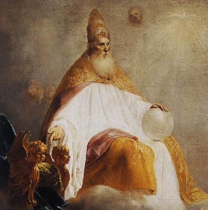 Depiction of God the Father (detail), Pieter de Grebber, 1654. dans immagini sacre GodInvitingChristDetail