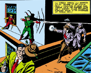 Green arrow wikiwand a panel of more fun comics 73 november 1941 featuring green arrow fandeluxe Images