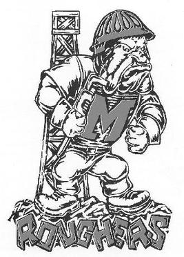 The Muskogee Rougher is the mascot of Muskogee High School and Muskogee Public Schools at-large.