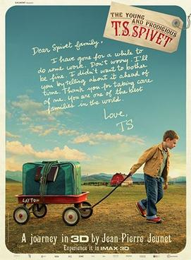 The Young & Prodigious T.S. Spivet Poster for Kookaburra Cinema