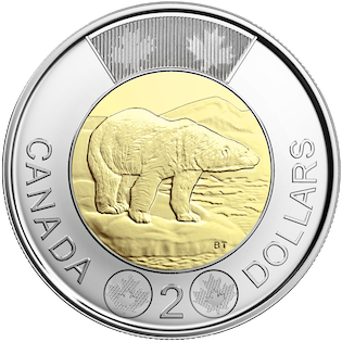 Canada 2006 10th Anniversary Churchill Toonie BU From Mint Roll!!