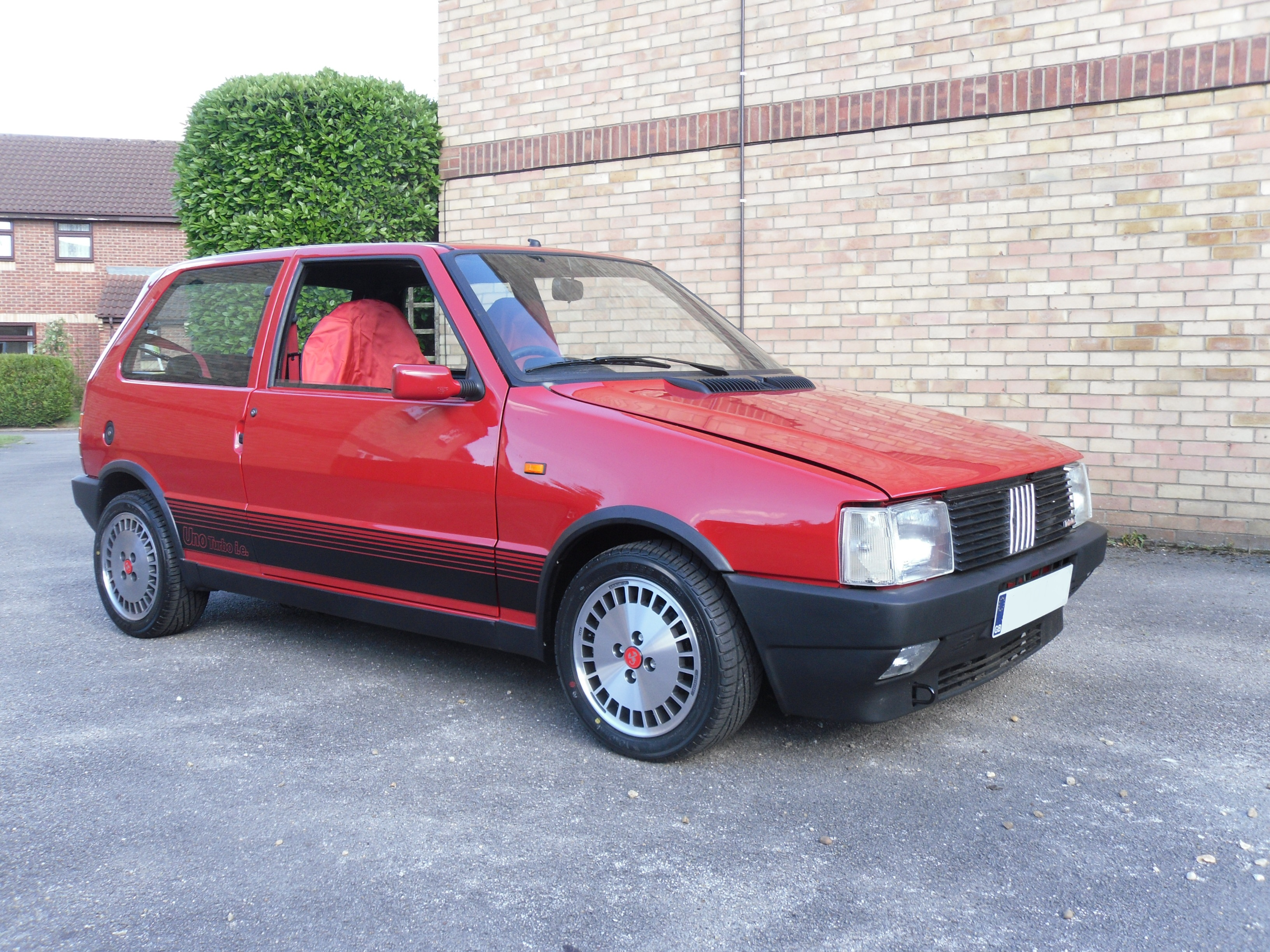 A 1988 Fiat Uno Turbo i.e. (UK-registered)