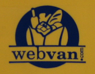 Webvan logo as seen on an orphaned shipping bin