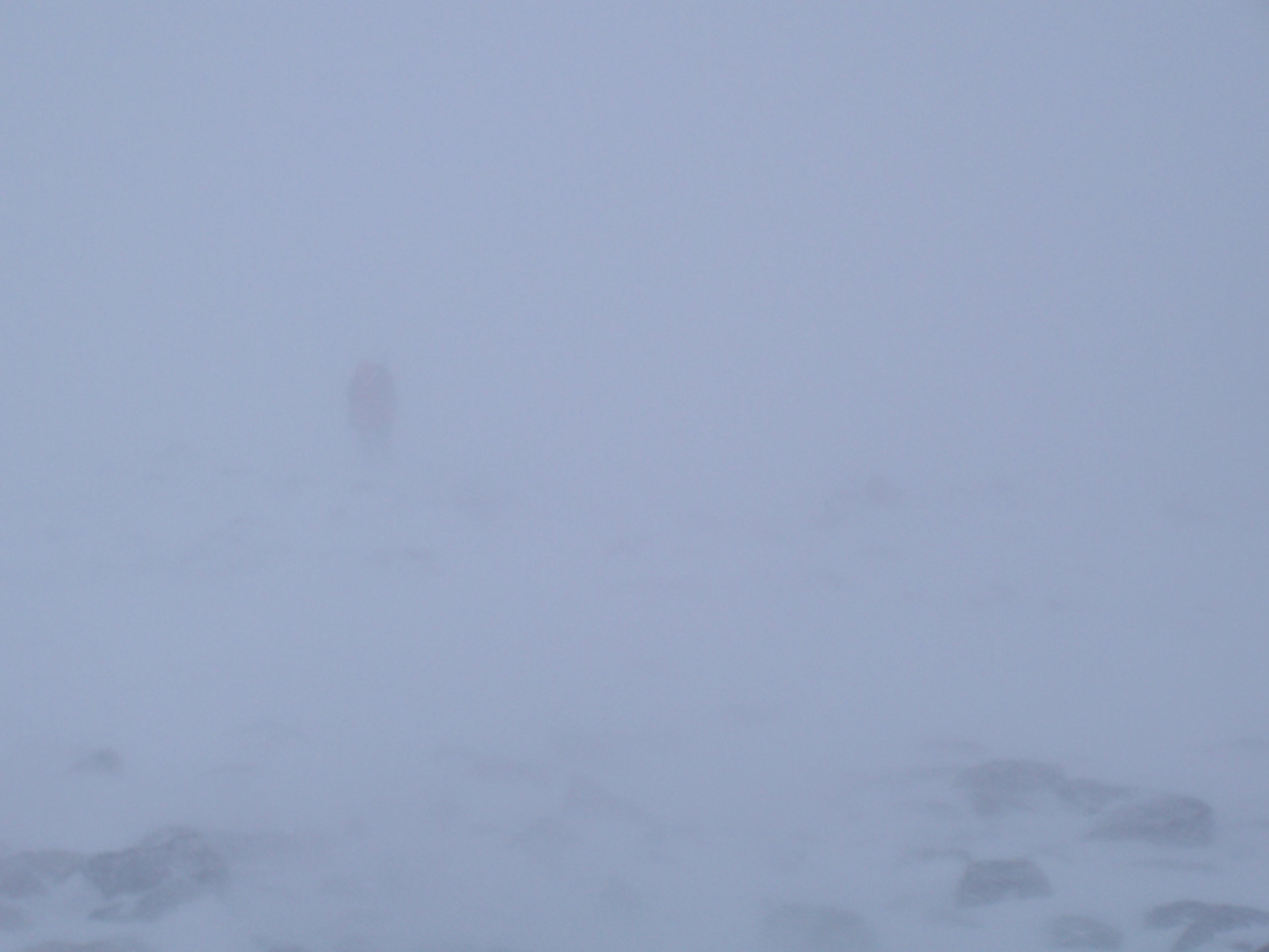 Poor visibility in blizzard conditions.