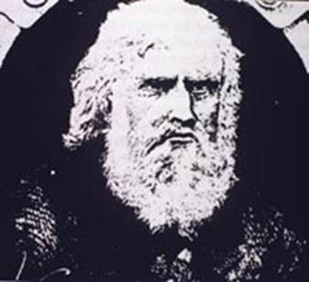 White-haired man with bushy beard