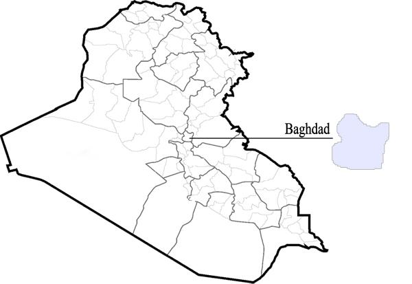 Iraq Map Template - Iraq map outline