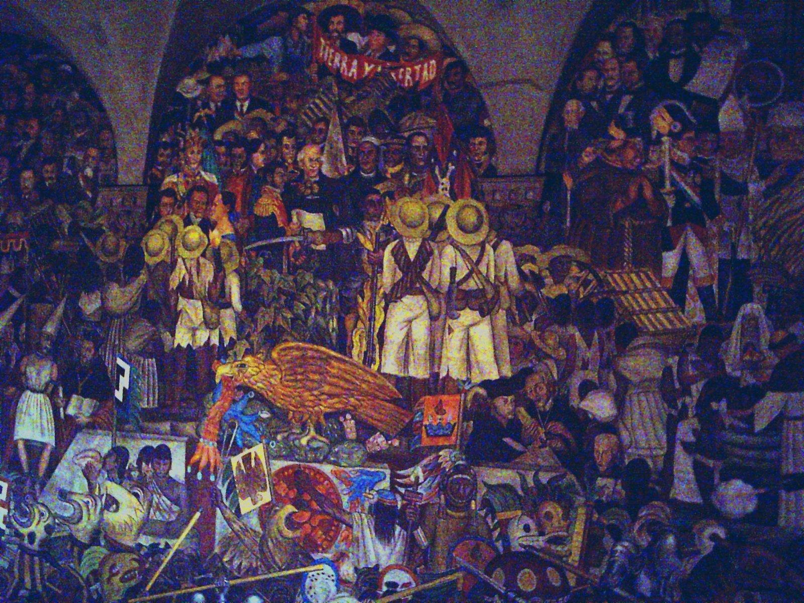 File mural diego wikipedia for Diego rivera la conquista mural