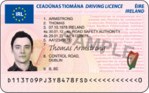 Driving licence in the republic of ireland wikipedia for Wisconsin drivers license template