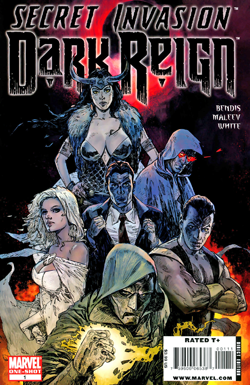 Cover to Secret Invasion: Dark Reign. Art by Alex Maleev.