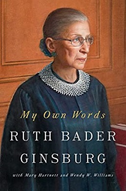 <i>My Own Words</i> book by Ruth Bader Ginsburg